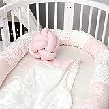 Protector De Cuna Para Bebé, Circunferencia De La Cama Para Niños Con Costuras...