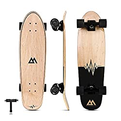 professional Magneto Mini Cruiser Skateboard Cruiser | Shortboard | Canadian Maple Deck – Designed for Kids…