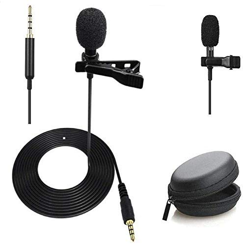 Alfa Mart Combo Dynamic 3.5mm mic Clip Microphone For Youtube, Collar Mike For Voice Recording, Lapel Mic Mobile, Pc, Laptop, Android Smartphones, Dslr Camera with free black pouch