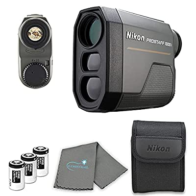 Nikon Prostaff 1000i Laser Rangefinder - 16663 Bundle with 3 CR2 Batteries and a Lumintrail Cleaning Cloth by Nikonxx