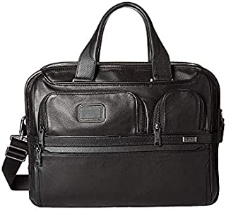 Tumi Unisex Alpha 3 Expandable Organizer Laptop Brief Black One Size