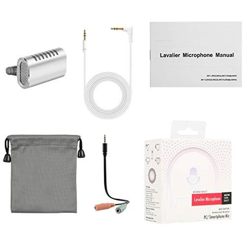 probeninmappx Clip de la Mini micrófono de Solapa Entrevista Estudio Profesional de grabación de vídeo Audio AUX Grabadores Mic