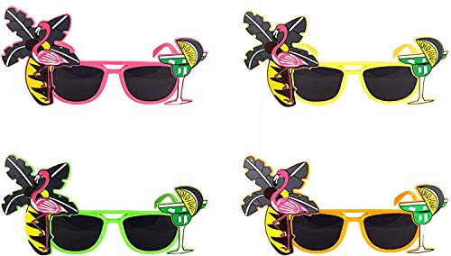 Gafas de sol unisex para adultos y niños, diseño de flamenco, estilo hawaiano, tropical, para playa