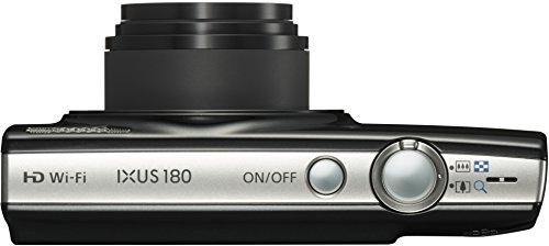 Canon IXUS 180 Digitalkamera (20 MP, 10 x opt. Zoom, 4 x dig. Zoom, 6,8cm (2,7 Zoll) LCD Display, WLAN, Bildstabilisator) schwarz