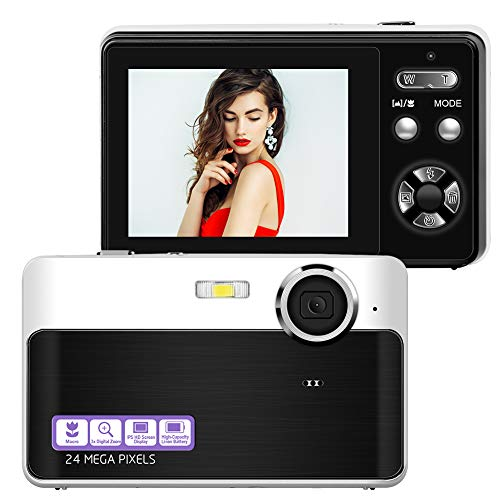 Digitalkamera FHD 1080P Fotokamera 24M Digitale Videokamera mit 2,4 Zoll LCD Fotoapparat Digitalkamera, 3-facher Digitalzoom Vlog Kamera für YouTube
