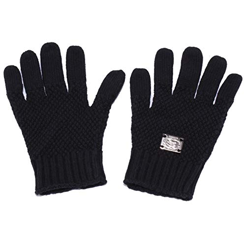 Burberry 4052Y guanti bimba girl WITHOUT LABEL mix cotton/wool black gloves