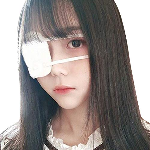 Zoylink Eye Patch Novelty Cotton Costume Eye Patch Costume Prop for Halloween Cosplay White