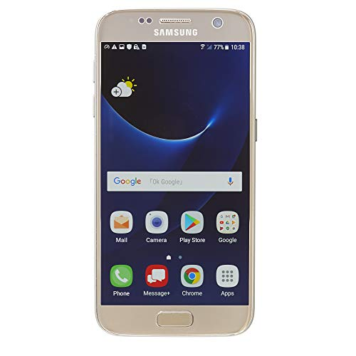 Samsung Galaxy S7 G930V 32GB, Verizon, Gold Platinum, Unlocked Smartphones (Renewed)