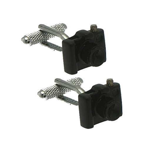 BLACK CAMERA Silver Plated Cufflinks