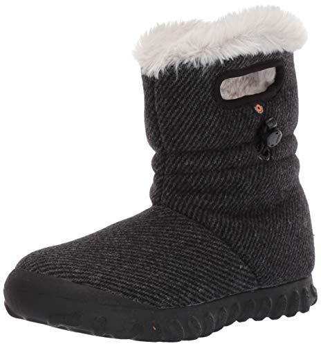 BOGS Women's BMOC Wool Snow Boot, Black, 10 M US