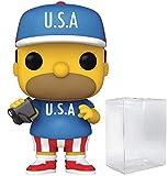 U.S.A. Homer Pop #905 Pop TV: The Simpsons Vinyl Figure (Bundled with EcoTek Protector to Protect Display Box)