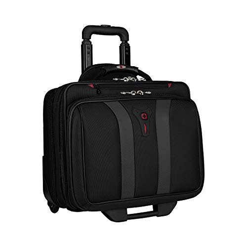 Wenger 600659 GRANADA 17 Inch Wheeled Laptop Case, Padded Laptop Compartment and Overnight Compartment in Black/Grey {24 Litre}