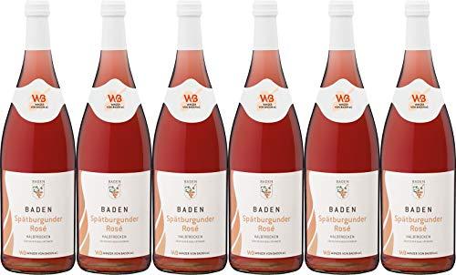 Winzer von Baden Spätburgunder Rosé Baden 1L 2018 Halbtrocken (6 x 1.0 l)
