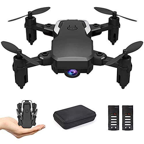 ZHCJH Mini Drone, Altura Fija de Flujo óptico, FPV Video WiFi 1080P Cámara HD Retención de altitud Plegable Sin Cabeza RTF 360 Grados 4-Axis Gyro RC Quadcopter con 2 baterías