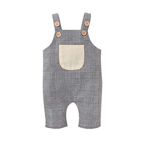 Styledress Baby Mädchen Junge Baumwolle Straps-Overall Latzhose Overall Einteiler Kleidung mit Tasche