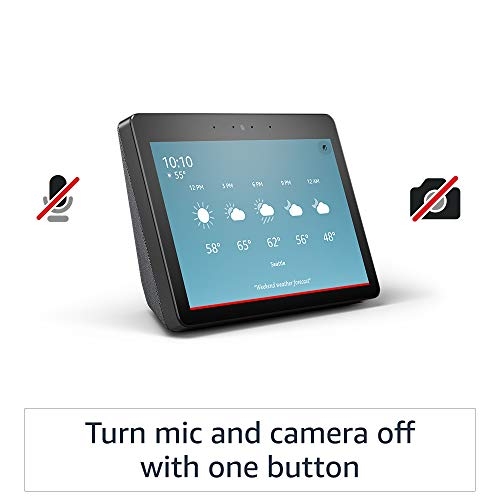 """Echo Show (2nd Gen)   Premium 10.1"""" HD smart display with Alexa – stay connected with video calling - Charcoal"""