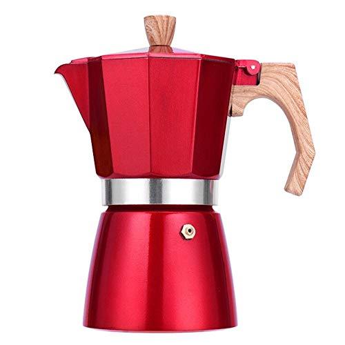 YLiansong Pot de Moka 12 Tasses Moka Pot à la Main Cafetière électrique Poêle à café de Cuisson Appareils Ménagers Espresso Cafetière (Couleur : Rouge, Taille : 3 Cup)