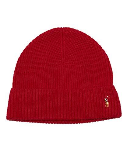 Polo Ralph Lauren Signature Merino Wool Beanie - Red