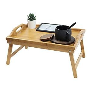 KKTONER Bandeja pequeña de Cama Plegable Puede Servir el Desayuno en la Cama o usarse como Bandeja Mesa de TV Bandeja para computadora portátil