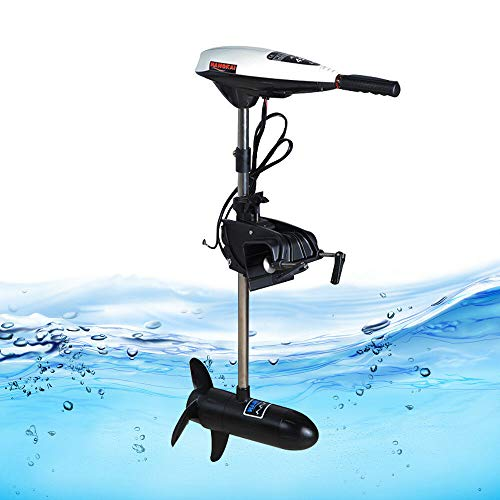 Electric Trolling Motor 12V 45LBS Outboard Trolling Motor Thrust Electric Fishing Inflatable Boat Motor Propeller Outboard Motor Engine (USA Stock)