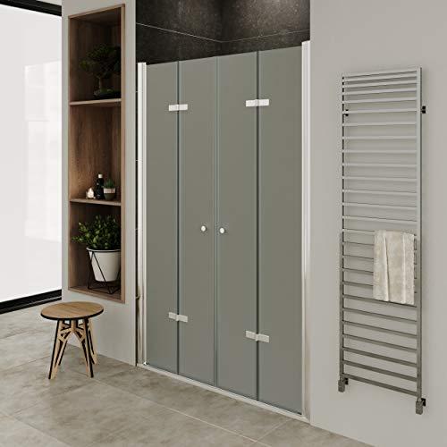 MOG Puerta plegable para mampara de ducha, rango de ajuste de 76-80cm,...