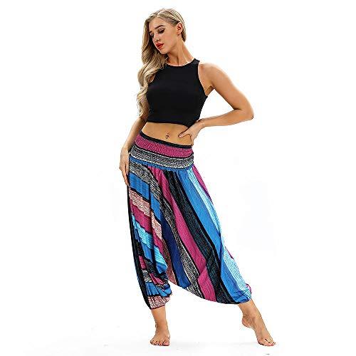 Yogabroek met zakken Tummy Control,Dames yoga legging, polyester stretch jumpsuit-MULTI_United States,Sexy vrouwen losse stevige onregelmatige lange mouw