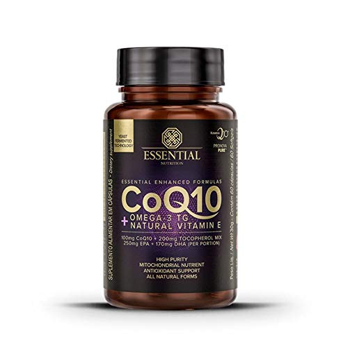 Coenzima Q10 com Ômega 3 TG - 60 Cápsulas - Essential