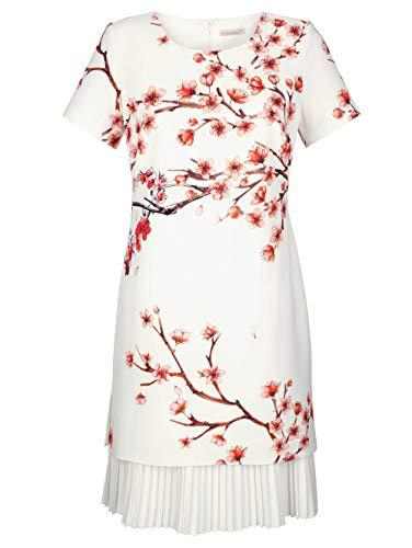 Alba Moda Damen Kleid Weiß 40 Kunstfaser