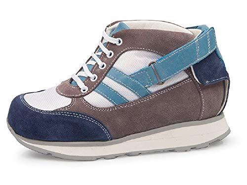 Zapatillas DAFO niños CALZAMEDI, APARATOS,piel gris/azul, capacidad plantillas. Mod.4140 (Gris, numeric_26)