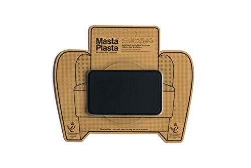 MastaPlasta Parches Adhesivos - Reparador de Cuero Rectangulo Mediano (100 x 60mm)...