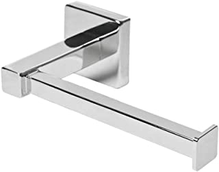 CONGGE Chrome Square Bathroom Toilet Roll Holder. Wall Mounted Toilet Roll