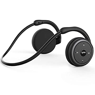 KAMTRON Bluetooth Running Headphones, Marathon2 Wireless Earphones with Clear Voice Capture Technology,Echo Cancellation Microphone for Sports Black from KAMTRON