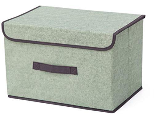 FISH4 Hause Falten Aufbewahrungsbox Cube Wäschekorb Bin Schränke Tisch Regale Organizer Stoff Cube Lagerung, Grün