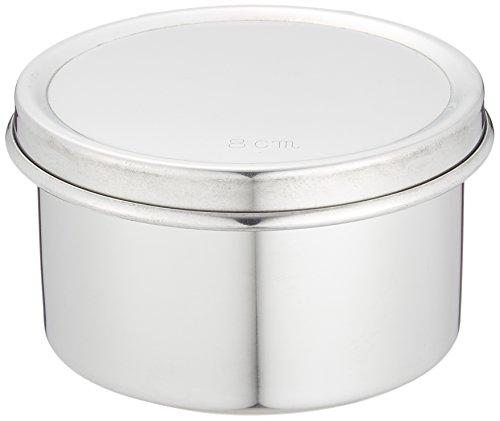 遠藤商事 業務用 ツマミなし丸バター入 8cm 18-8ステンレス 日本製 ABT48008