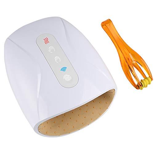 Masajeador de Mano inalámbrico con Calor,máquina de Masajeador de Mano recargable con compresor de presión de aire para el dolor y la entumecimiento de los dedos
