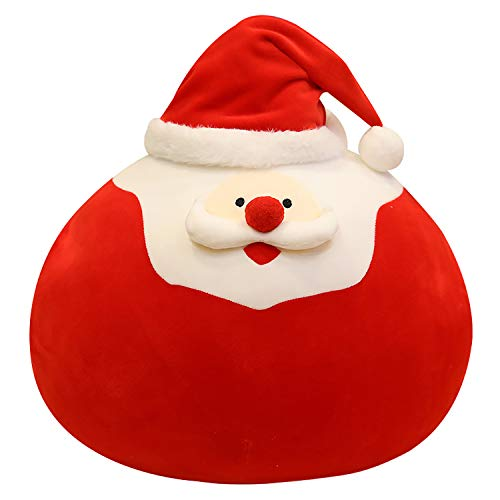 "Onsoyours Plush Santa Pillow, Cute Santa Claus Plush Toy with Big Pocket for Christmas Holiday Decorations Gifts 15.7"" (Santa)"