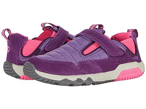 Merrell OAKCREEK Low LACE Waterproof Hiking Shoe, Purple/Pink, 2 US Unisex Big Kid