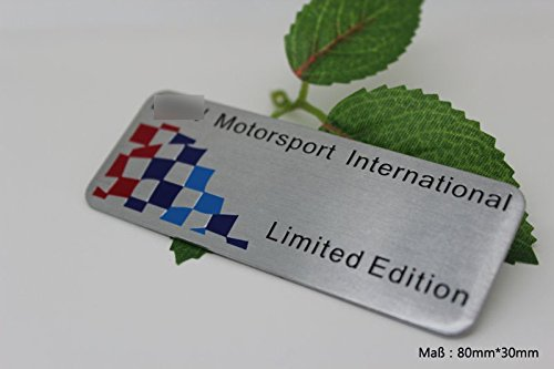 D101 Motorsport Internaional Limited Edition 3D Emblem Alu auto aufkleber Abziehbild