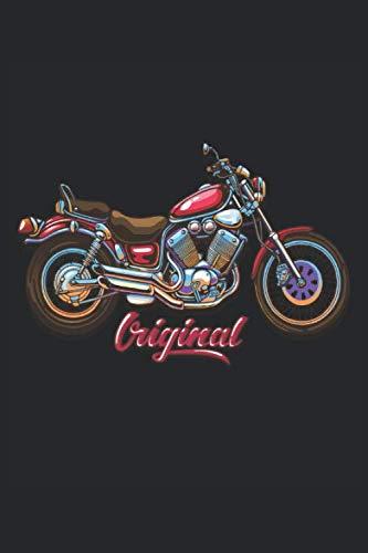 Motocicleta: Cuaderno de motos A5 a cuadros: para planificar, organizar y escribir