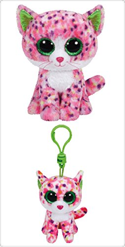 "Ty Beanie Boos Cat 6"" Regular Sophie with a 3"" Sophie Beanie Clip (free gift with purchase)"