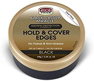 Sponsored Ad - African Pride Black Castor Miracle Hold & Cover Edges - Slicks and Controls Edges, Covers Grays, Fills Thin...