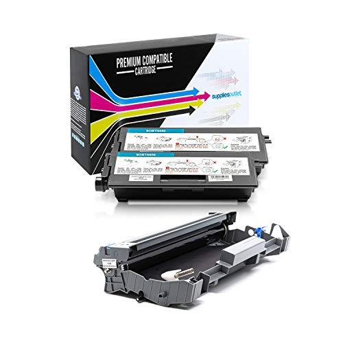 SuppliesOutlet Compatible Toner Cartridge and Drum Unit Set for Brother TN650 / TN-650 / DR620 / DR-620 (2 Toner,1 Drum)