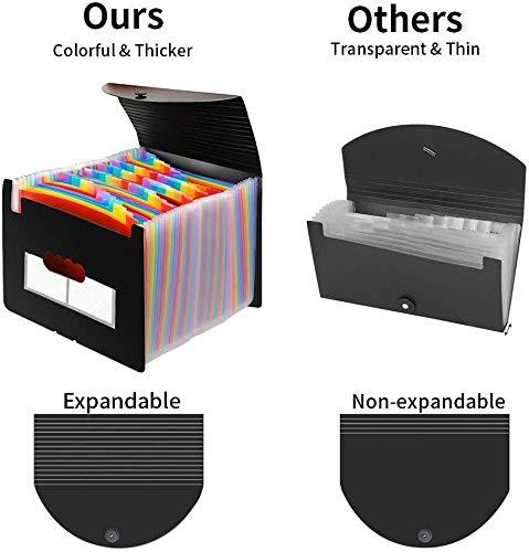 Accordian File Organizer, Expanding File Folder, 60 Pockets, Large Monthly/Weekly Expandable Plastic Accordian File Organize/Folder a-z, A4 Letter Size File Box, Portable Document Organizer Photo #3
