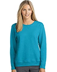 Midweight, 50% Cotton/50% Polyester fleece, with up to 5% made from recycled plastic bottles Soft, 7.5-Oz cotton blend provides comfort in any climate Sweatshirt sits just below your natural waistline. Ribbed hem and cuffs keep their shape High-stitc...
