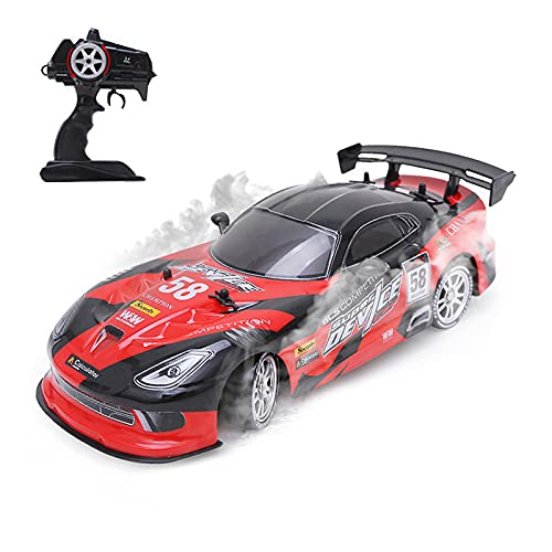 Fistone RC Drift Racing Cars, 1/16 4WD 2.4G Remote Control High Speed Racing Vehicle with 4 Spare Speed Tires Hobby Toys for Boys Kids and Adults
