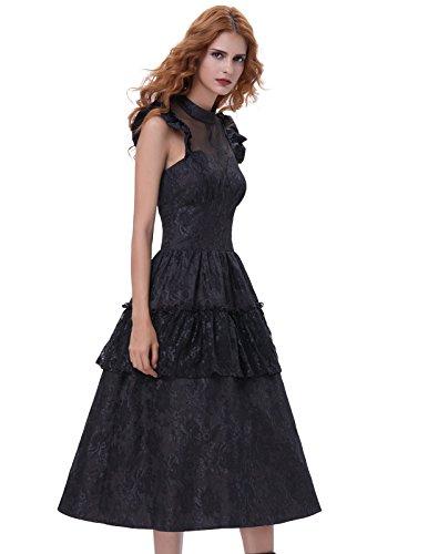 Belle Poque Gothic Kleid Spitze Corsage Kleid Damen Steampunk Kleid M BP380-1