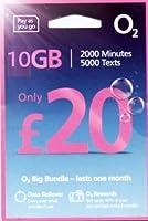 「O2 」O2【イギリス含むヨーロッパ各国対応】 プリペイド シムカード ヨーロッパ用 10GB ヨーロッパ、アジア、アメリカ使用可能(10GB さらに現地通話無制限 3000 SMS 30日間)