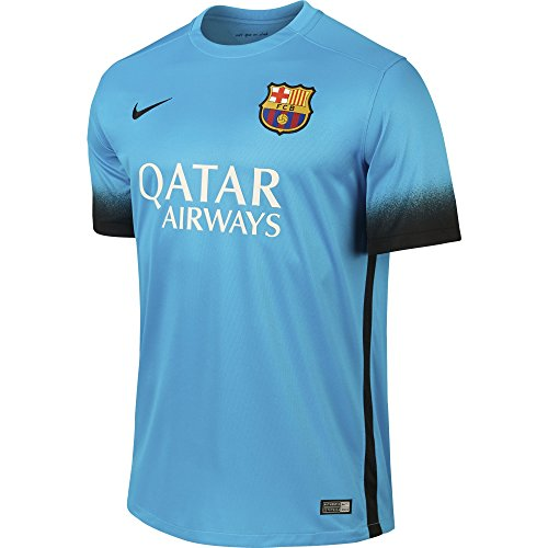 Nike Mens Barcelona Stadium Jersey, LT CURRENT BLUE, X-Large