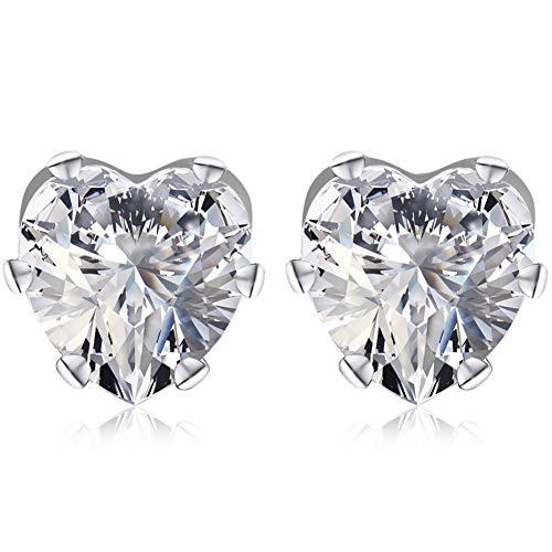 Wiftly Charming cubic zirconia ring earrings heart pendant earrings for women girls