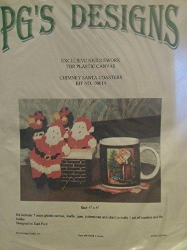 PG 의 디자인 굴뚝 산타 컵 받침 키트 7 카운트 플라스틱 캔버스